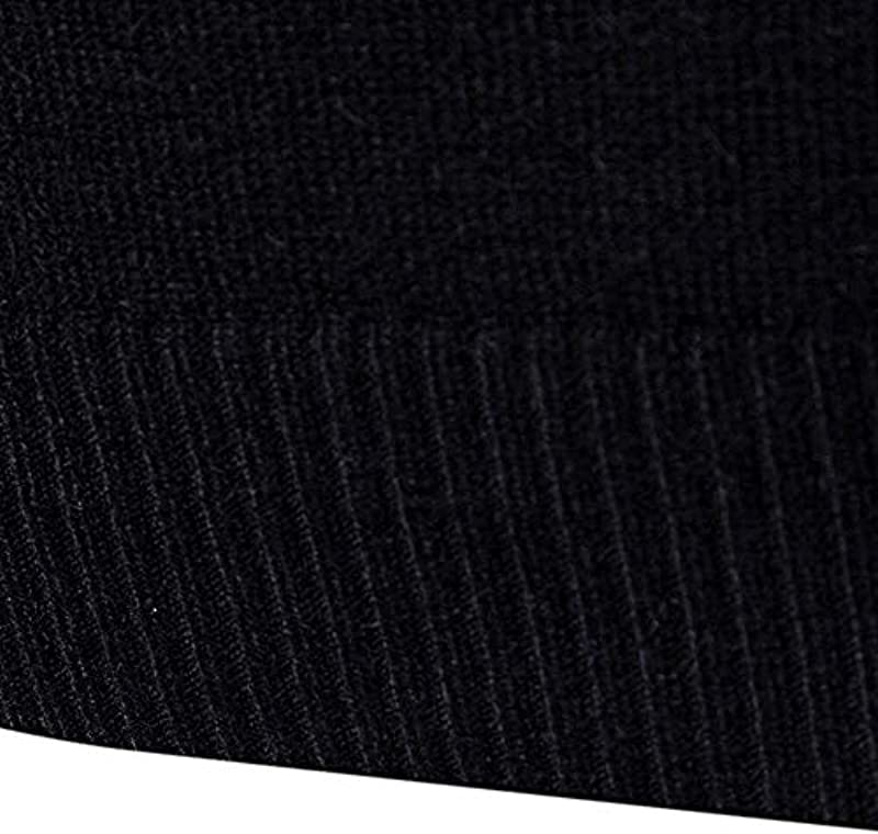 Sccarlettly Męskie Rollkragenpullover Mit Rollkragen Einfarbig Chic Strickpullover Casual Pullover Männer Herbst Winter Sweatshirt: Odzież
