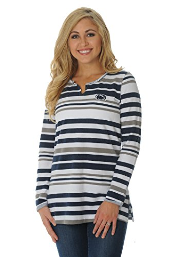 NCAA Penn State Nittany Lions Women's Striped Tunic Fleece Top, X-Large, (Penn State Store)