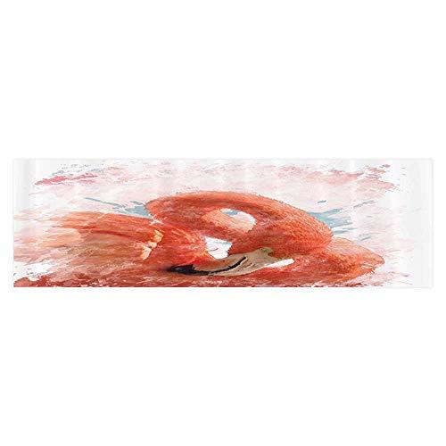 Auraise Heybee Aquarium Sticker mElegant Flamingo Bird with iry Feather Watercolor Painting Effect Nature Wallpaper Sticker Background Decoration 35.4