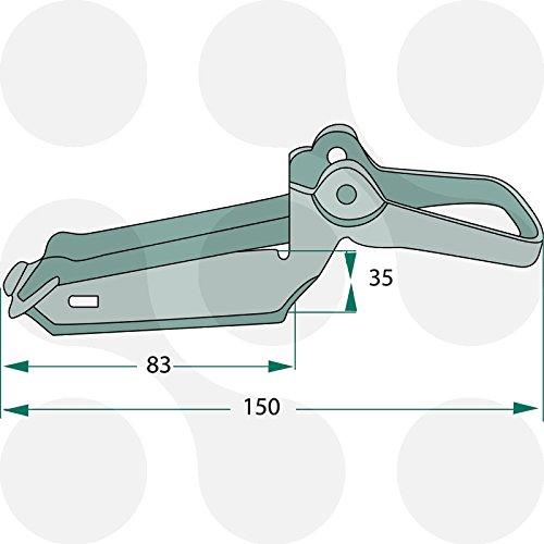 2 x Verschlusslager Schaufelhalter Spatenhalter Axthalter Beilhalter