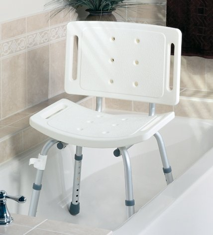 Easy Care Shower Chair/Stool - Stool assembled, gray - 4 Per Case - Model G30401-4
