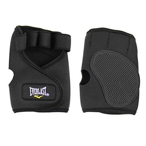 Everlast Unisex Neoprene Weight Lifting Gloves Black Large (Lifting Everlast Gloves)