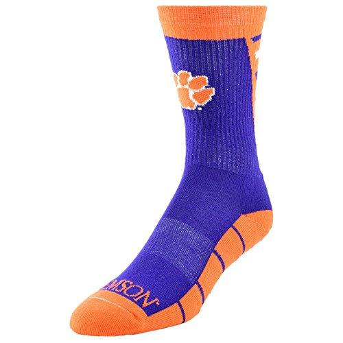NCAA Clemson Tigers Men's Energizer Performance Crew Socks, Large, Orange