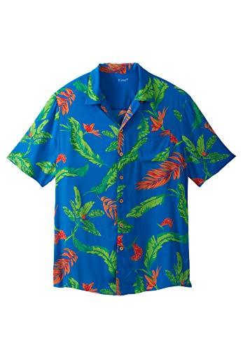 KS Island Men's Big & Tall Tropical Caribbean Camp Shirt, Birds of Paradise Big-2XL (Paradise Camp Shirt)