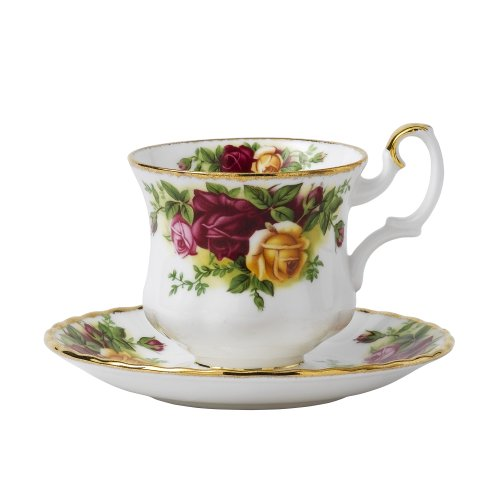 Royal Albert Old Country Roses Coffee/Demitasse Cups 5oz & Saucers (Set of 4)