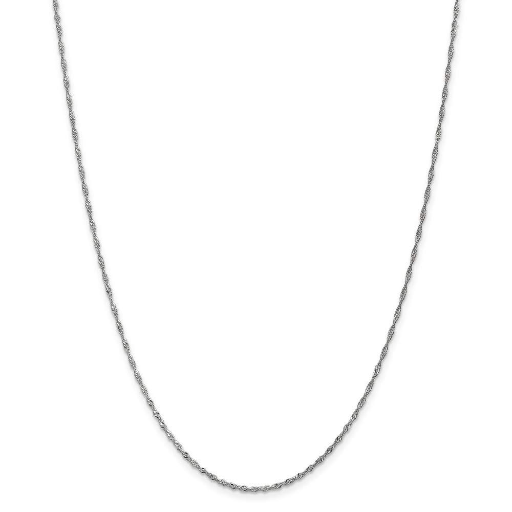 10k Sparkle Singapore Chain Necklace in White Gold Yellow Gold Choice of Lengths 16 18 20 24 and 1.3mm 1.7mm