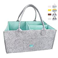 Baby Diaper Caddy Organizer - Baby Shower Gift Basket For Boys Girl | Large Portable...