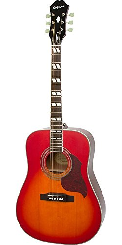 Epiphone Hummingbird Artist Acoustic Guitar Faded Cherry ()