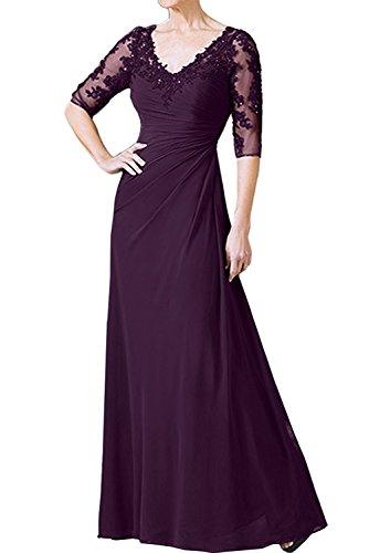 V Damen Traube Abendkleider Kleider Braut mia Brautmutterkleider Partykleider Ausschnitt Dunkel Fuchsia La Jugendweihe q6aZxwXX
