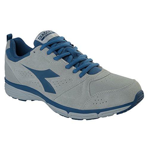 Diadora - Zapatillas de voleibol de Material Sintético para hombre C5463 GRIGIO/BLU
