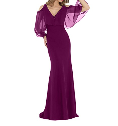 Partykleider Abendkleider Fuchsia Etuikleider mia Brau Lang Dunkel Festlichkleider Elegant Brautmutterkleider La Meerjungfrau Trumpet I70Xqw