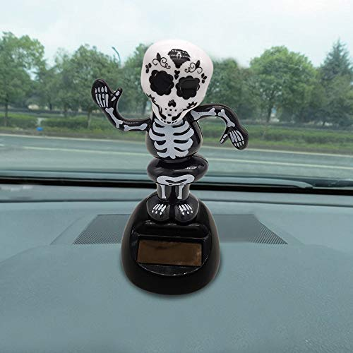 Euone  Halloween, Solar Powered Dancing Toy Halloween Swinging Animated Bobble Dancer Car Decor -