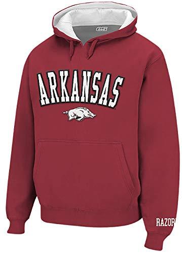 Elevation 5 NCAA Men's Embroidered Pullover Gamer Hoodie (Large, Arkansas Razorbacks)