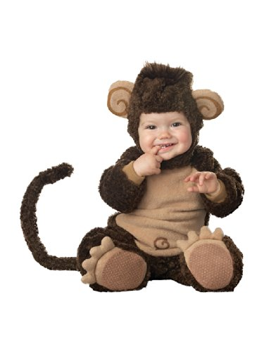 InCharacter Costumes Baby's Lil' Monkey Costume, Brown, -
