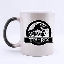 Popular Funny Dinosaur Print Coffee Mug - Tea Rex Morphing Coffee Mug or Tea Cup,Ceramic Material Mugs - 11 oz