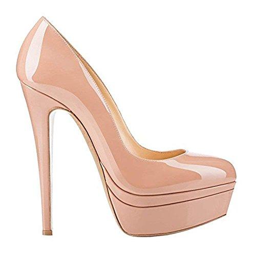 Scivolare Alti Piattaforma Chiusa Matrimonio Stiletto Nude Rosso Di B0tt0m Scarpe Piattaforma Fashion Chris Da Tacchi t Festa Punta Super Doppia Su Donne doppia TvBZYqX