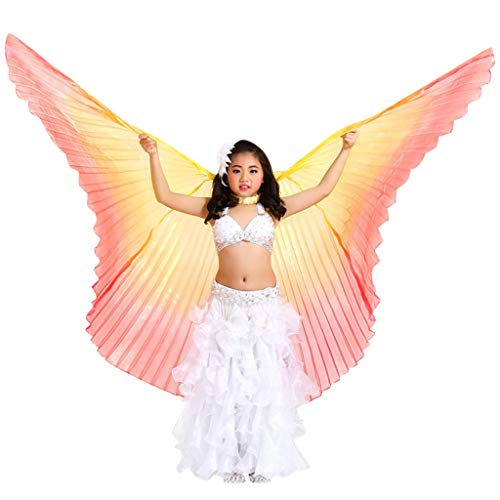 Children Belly Dance Wings Christmas Party Fairy Bright Butterflies Wings Lightweight Reusable Angel Isis Wings - Easy to Wear by Moonite]()