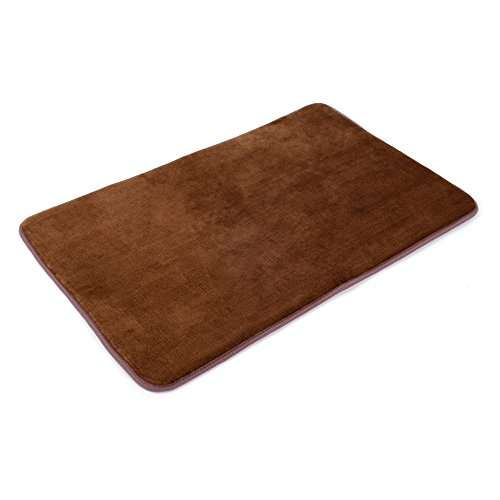 "Memory Foam Bathrug – Chocolate (Brown) Bath Mat and Shower Rug Large 20"" x 32"" Inches, Non Slip Latex Free Plush Microfiber. Comfortable, Beautiful and Maximum (Luxury Bath Shower)"