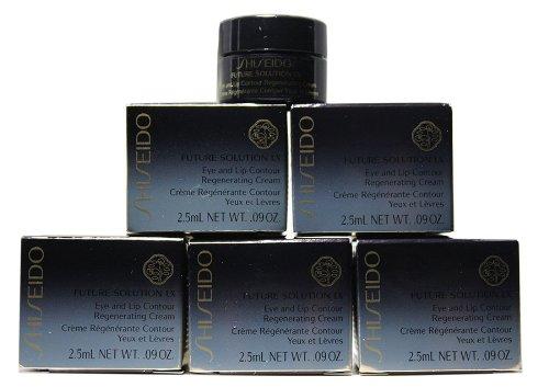 SHISEIDO Future Solution LX Eye and Lip Contour Regenerating Cream Travel Size 2.5ml.x 6= 15ml.(Retail Size ()
