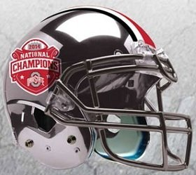 Ohio State Buckeyes Schutt XP Full Size Replica Helmet - 2014 Champ - Chrome by Schutt