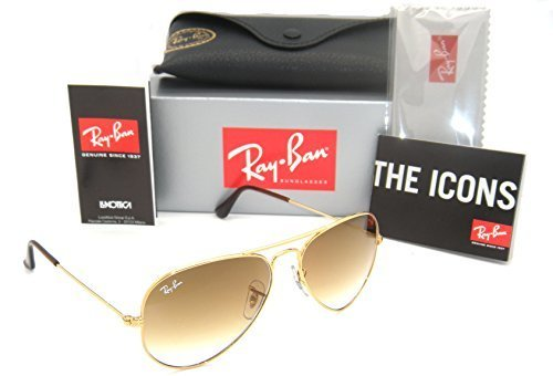 Ray-Ban 3025 Aviator RB 3025 001/51 55mm Gold Frame Brown Gradient 55mm - Brown Ban Gradient Gold 55mm 3025 Ray