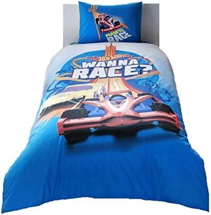 Hot Wheels wellstil Cartoon Characters Bedding Coverlet Set Single//Twin Size Kids Bedspread//Coverlet for Summer