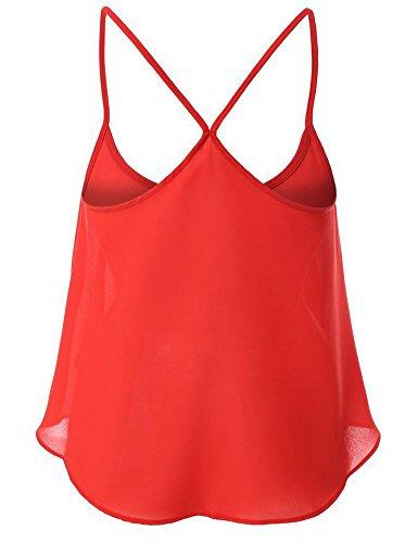 ABCHIC - Camiseta sin mangas - para mujer Rosso