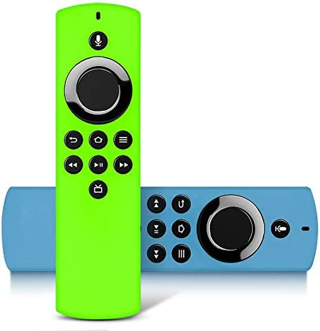 2Packs Remote Cover for Firetvstick Lite 2020 Release,Anti-Slip Glow Silicone Protective Case Compatible with Firestick Voice Remote Control,Shockproof