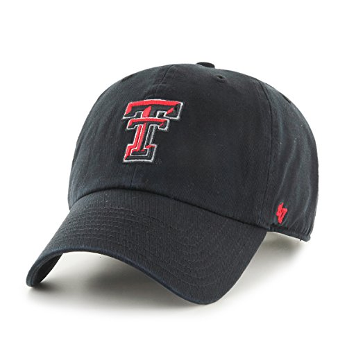 NCAA Texas Tech Red Raiders Clean Up Adjustable Hat, One Size, Black