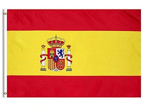 DFLIVE Spain Country Flag 3x5 ft Printed Polyester Fly Spain National Flag Banner with Brass Grommets ... (Spain Country Flag)