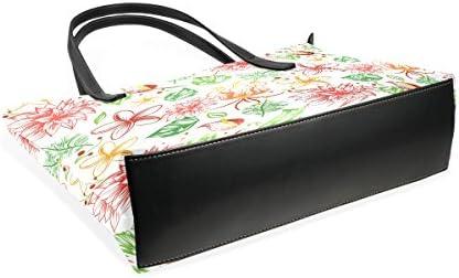 COOSUN Fleurs Tropicales Peint PU Sac à Main Sac à bandoulière en Cuir et Sacs à Main Sac fourre-Tout pour Les Femmes Moyen muticolour