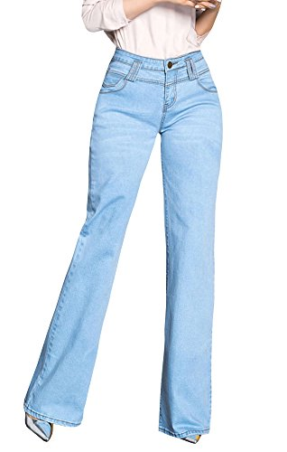 Syktkmx Womens Boot Cut Jeans High Waisted Straight Leg Denim Ladies Work Pants - Boot Flare Jeans
