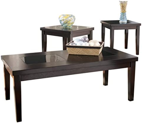 Signature Design by Ashley – Denja Occasional Table Set – Includes Cocktail Table 2 End Tables, Dark Brown
