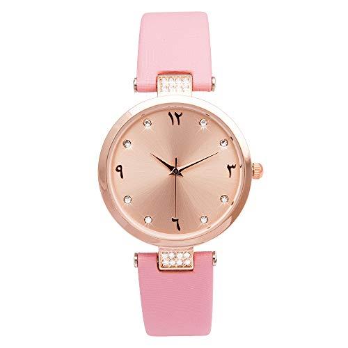 Rose Gold Case Ladies Arabic Watch. Arabic Numerals Dial Face Watch. Women Arabic Hours