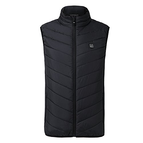 Insulated Heated Vest for Men and Womens, USB Electric Carbon Fiber 3 Levels Heating Clothing Asia Size
