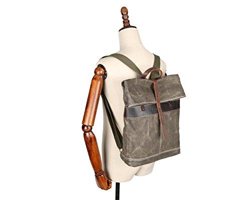 Backpack Vintage Outdoor Men's Batik Oil Waterproof Lan Travel Shuo Brown Wax BO47E