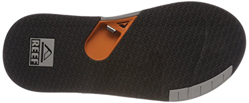 Men's Reef Sandal Fanning Low Grey Orange Thong vrS4Hvxfn