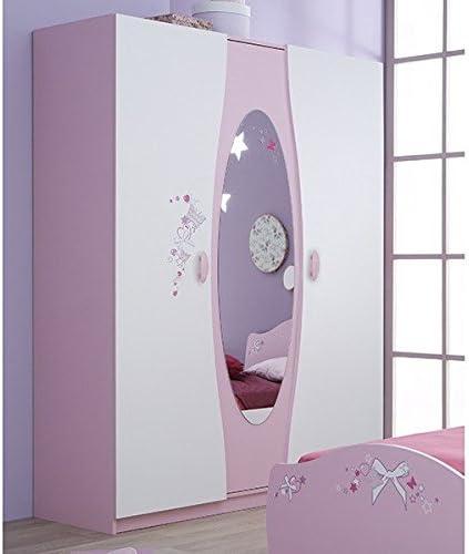 Armario blanco rosa 3-puertas B 140 armario puertas correderas de ...
