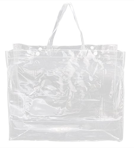 Clear Bundle Pack of Tote Bags- 100% Clear PVC Large Beach T