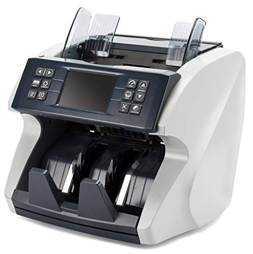 Mixed Denomination Bill Counter by Carnation - Fast, User-Friendly Money Counter Machine - Detects UV, MG, MT, IR - Works Worldwide