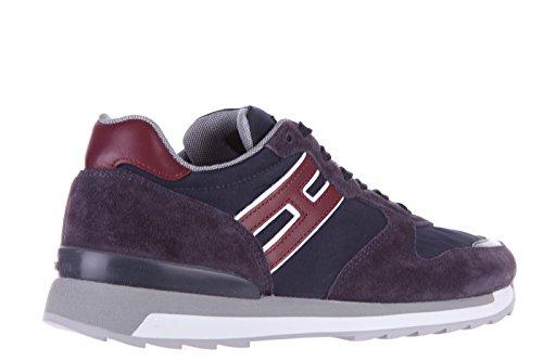 Hogan Rebel chaussures baskets sneakers homme en daim rebel r261 running allacci