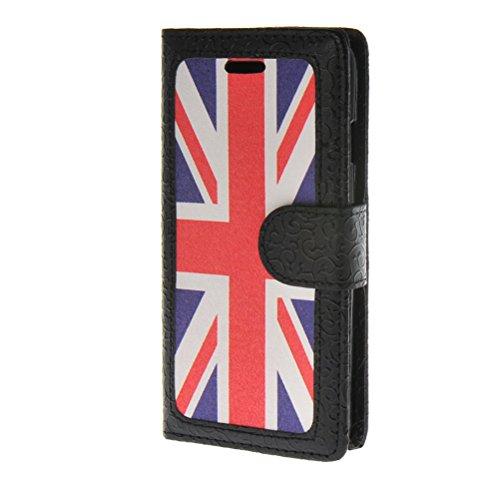 MOONCASE iPhone 6 Case Leder Tasche Flip Case Cover Schutzhülle Etui Hülle Schale für Apple iPhone 6 4.7''
