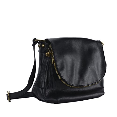 piel Oh horas 72 Bolso mujer pequeño negro para Bag de My bandolera Modelo pCxXqwCSn