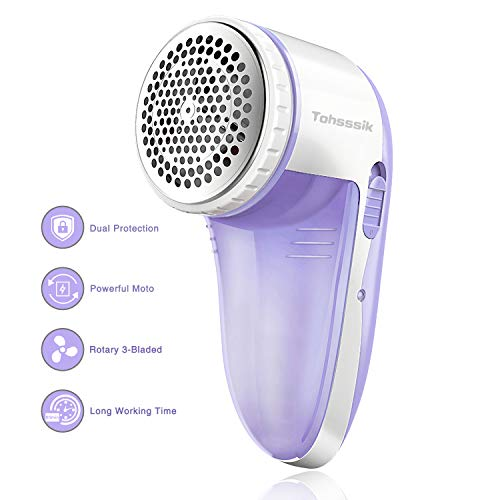 Fabric Shaver,Electric Lint Remover Rechargeable Fuzz Lint Remover with Free 2 pcs 3-bladed Professional Sweater Shaver Lint Fuzz Pill Bobble Remover for Cloths, Fabrics and Furniture