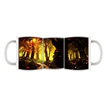 Custom Print Design Tree Forest 11 Oz Ceramic Mug Coffee Cup