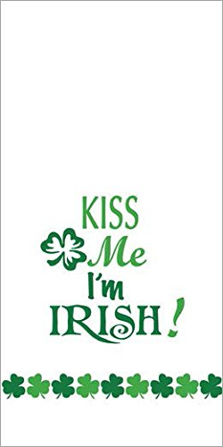 """Kay Dee Designs Kitchen Printed St. Patrick's Day Tea Towel Embellished with Green Glitter Accents (1), """"Kiss Me I'm Irish!"""", R3398"""