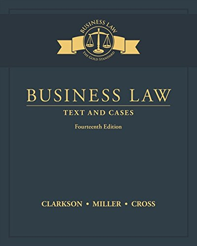 Pdf Law Business Law: Text and Cases