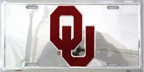 Oklahoma Sooners Chrome License Plate Frame NCAA