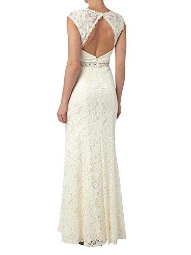 Braut Brautmutterkleider Schnitt Schmaler Abendkleider Etuikleider La Lang Ballkleider Glamour Spitze mia Figurbetont Blau 5f40fxqnT