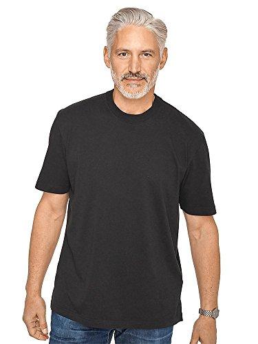 Silk Cotton Crewneck T-shirt - Paul Fredrick Men's Cotton \ Silk Crewneck T-shirt Black Medium